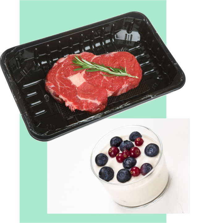 Food Packaging Meat fish trays dessert pots Queensbury Products Ltd Injection moulded theromforming Bridgwater, Somerset UK BRC