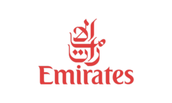 Emirates Logo - Queensbury Products Ltd of Bridgwater, UK have made plastic food packaging for airlines such as emirates & BA.