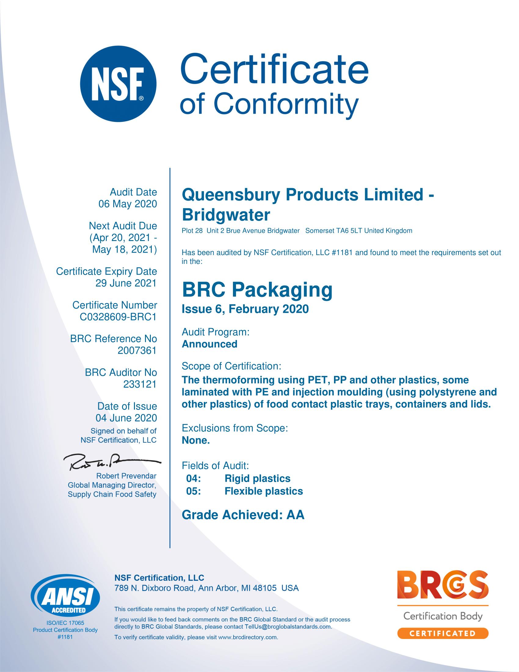 Queensbury BRC Certificate - exp 290621-1